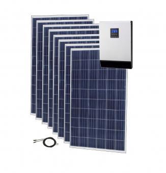 Sistem fotovoltaic ECO 2kWp cu invertor hibrid