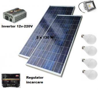 Sistem fotovoltaic ECO cu invertor
