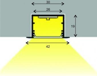 Profil LED 2m incastrat ECO XL