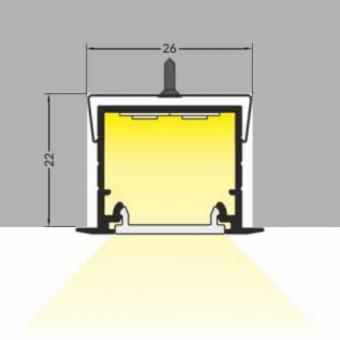 Profil LED 2m incastrat XL