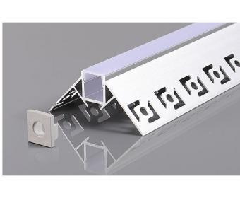 Profil LED 2m incastrat sub tencuiala de colt