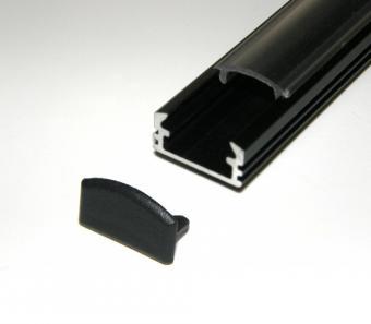 Profil LED aplicat 3m NEGRU