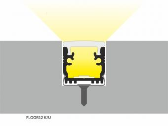 Profil LED pardoseala 2m