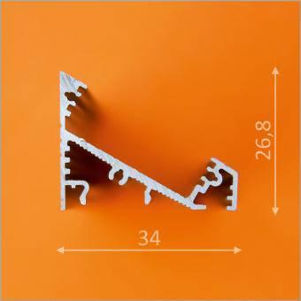 Profil LED 90 grade WIDE 1m