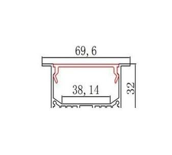 Profil LED aluminiu MAXI 2m