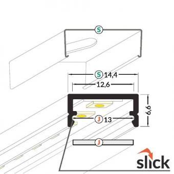 Profil LED aplicat 2m