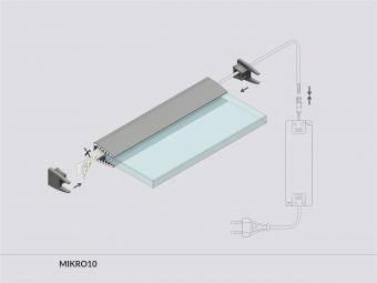 Profil LED plexiglas 2m