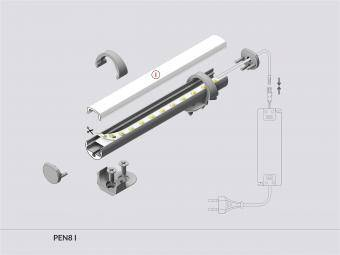 Profil LED rotund 2 m