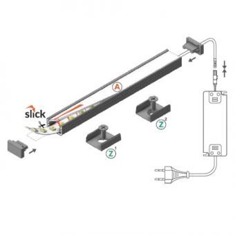 Profil LED slim aplicat 2m