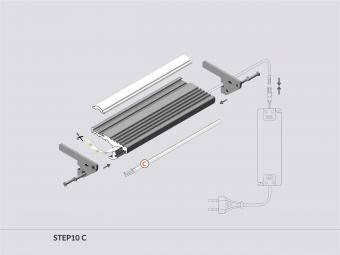 Profil LED trepte 2m