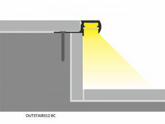 Profil LED trepte incastrat 2m