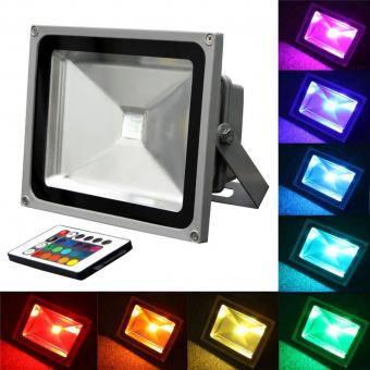 Proiector LED RGB cu telecomanda