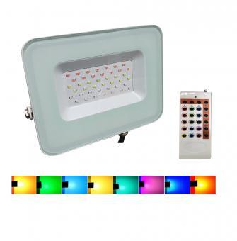 Proiector LED RGB cu telecomanda RF
