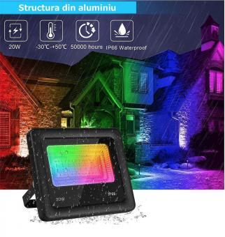Proiector RGBW LED aplicatie conectare bluetooth