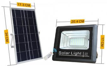 Proiector LED solar cu telecomanda
