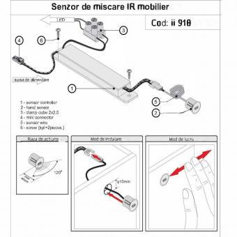 Sensor miscare IR 12V